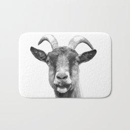 Black and White Goat Bath Mat