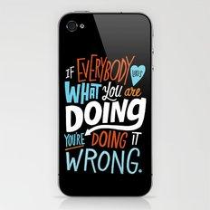 Doing it Wrong iPhone & iPod Skin