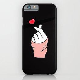 finger heart sign korean iPhone Case