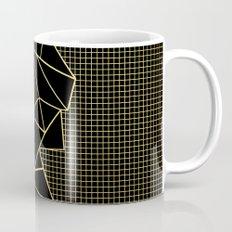 Abstract Outline Grid Gold Mug