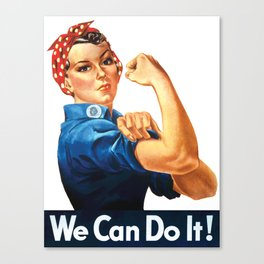 WE CAN DO IT Pop Art Canvas Print