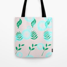 Green leaves with light Tote Bag