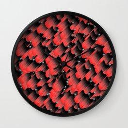 Hot layers Wall Clock