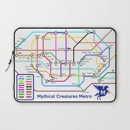 Mythical Creatures Subway Map Laptop Sleeve