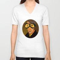 van gogh V-neck T-shirts featuring Pablo van Gogh 2 by Marko Köppe