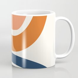 Abstract Shapes 7 in Burnt Orange and Navy Blue Coffee Mug