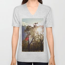 An Evening in the Park Unisex V-Neck