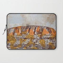 Uluru Ayers Rock Australia grunge art creative art painted Uluru drawing Uluru grunge digital art Laptop Sleeve