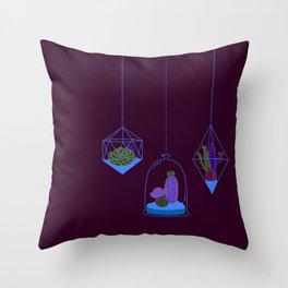 Cactus Terrarium Throw Pillow