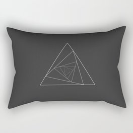 Triangle Spiral Geometric Minimalist Syndrome Rectangular Pillow