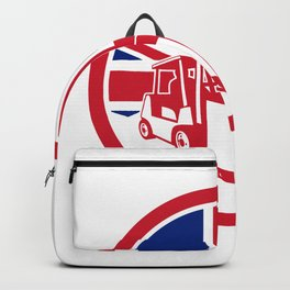 British Logistics Union Jack Flag Icon Backpack