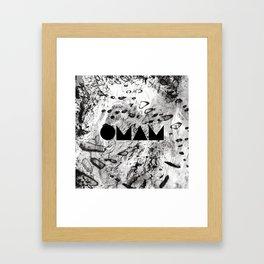 OMAM MARBLE Framed Art Print