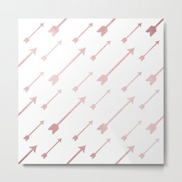 Simply Adventure Arrows in Rose Gold Sunset Metal Print