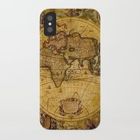 vintage map iPhone & iPod Cases featuring VintaGe Map by ''CVogiatzi.