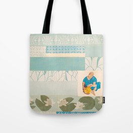 indian lily lady print Tote Bag