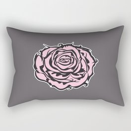 Single rose Rectangular Pillow