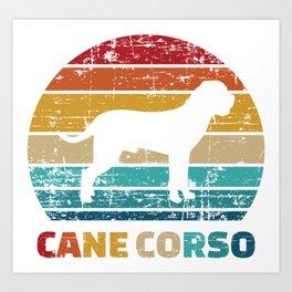 Cane Corso vintage Art Print