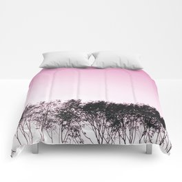 Lovely pink sky Comforters