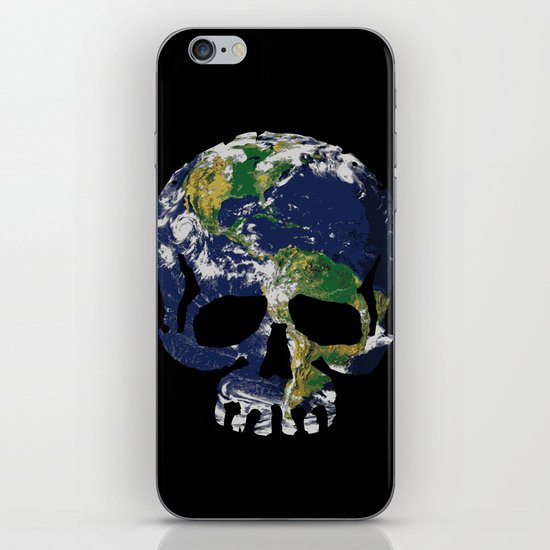 Skull Earth iPhone Skin