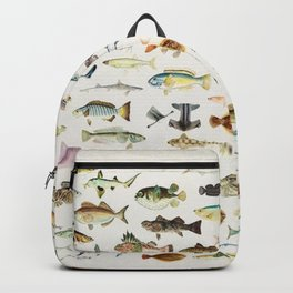 Illustrated Colorful Southern Pacific Exotic Game Fish Identification Chart Backpack