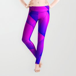 Pattern of purple and lilac triangles and irregularly shaped lines. Leggings