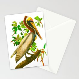 Brown Pelican Vintage Illustration Stationery Cards