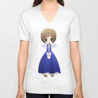 bioshock infinite V-neck T-shirts featuring Bioshock Infinite - Elizabeth Angel by Choco-Minto
