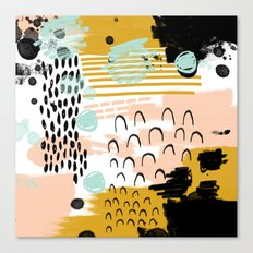 Ames - abstract painting hipster home decor trendy color palette art gifts Canvas Print