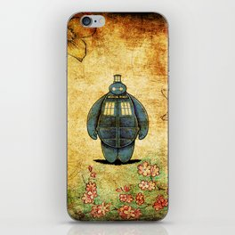 changes into a tardis iPhone Skin