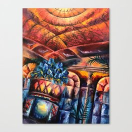 """Palm Court"" Painting Canvas Print"