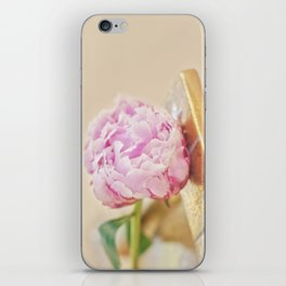 PEONY WITH GOLD iPhone Skin