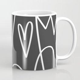 Doodle Hearts in Black by Friztin Coffee Mug