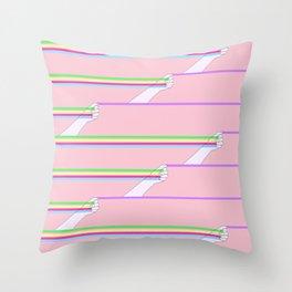 Feminist power pattern Throw Pillow