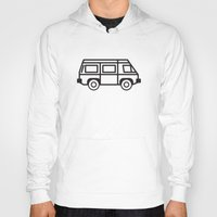 volkswagen Hoodies featuring Volkswagen Vanagon by Rory Harms