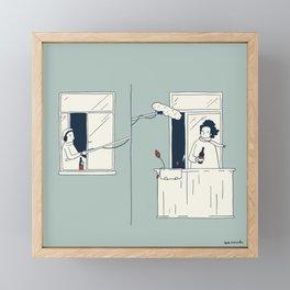 Sound in quarantine Framed Mini Art Print