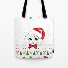 Cat Ugly Christmas Tote Bag