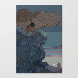 Perched Angels Canvas Print