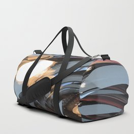 lighting reflects a circle, abstract smooth Duffle Bag