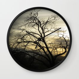 Beck Kiwanis Park in Ontario, Oregon - sunset Wall Clock