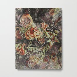 Dramatic Winter Flowers Metal Print