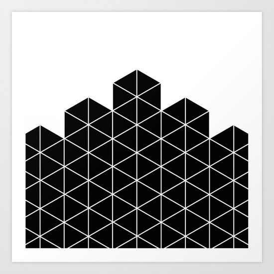 Black And White Stack Art Print