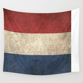 Old and Worn Distressed Vintage Flag of The Netherlands Wall Tapestry