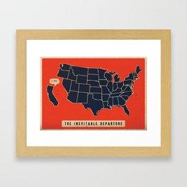 The Inevitable Departure  Framed Art Print