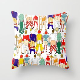 Fast Food Butts Mascots Throw Pillow