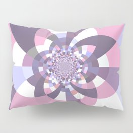 Mauve Lavender Puce Kaleidoscope Pillow Sham