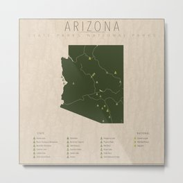 Arizona Parks Metal Print