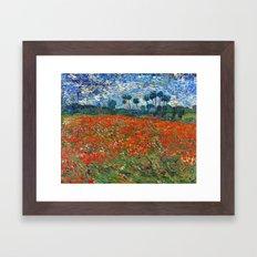 Vincent Van Gogh - Poppy Field Framed Art Print