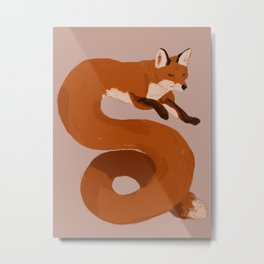 Pipe Fox Metal Print