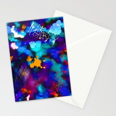 Abstract Watercolor (Blue) Stationery Cards