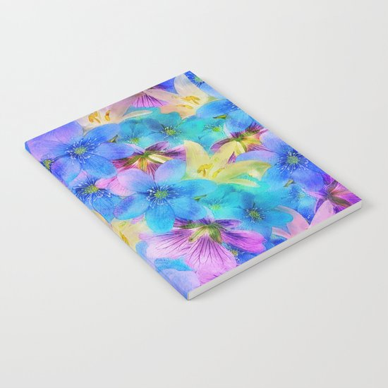 Vivid Floral Pattern Notebook